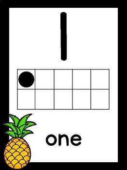 Black Pineapple Number Posters [0-20] FREEBIE