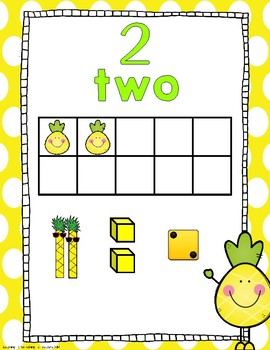 Pineapple Number Posters