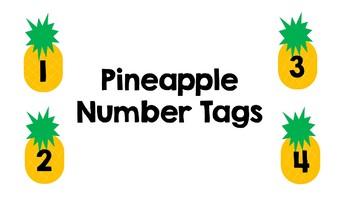 Pineapple Number Tags Editable