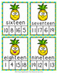 Pineapple Number Words Clip Cards