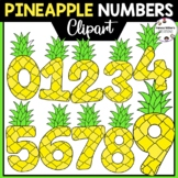 Pineapple Numbers Clipart 0-9