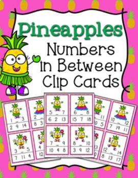 Pineapple Numbers In Between Clip Cards