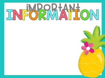 Pineapple Open House Presentation & Forms