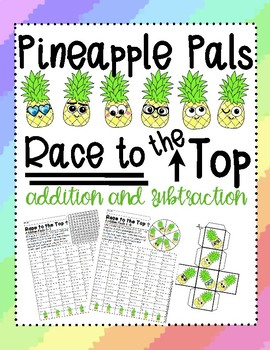 Pineapple Pals Race to the Top Addition and Subtraction Review and Practice
