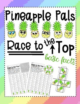 Pineapple Pals Race to the Top Basic Math Facts Review and Practice Bundle