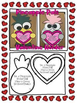 Pineapple Pals Valentine Bag Craftivity
