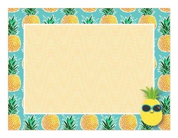 Pineapple Paradise Decor {Editable} Labels and Posters