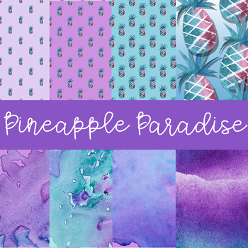 Digital Papers for TPT Sellers- Pineapple Paradise