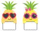 Pineapple Paradise Pineapple Friends Labels {Editable}