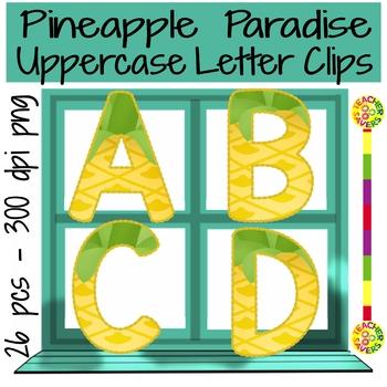 Pineapple Paradise Uppercase Letter Clips