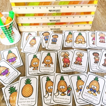 Pineapple Partner Cards with Engagement Questions