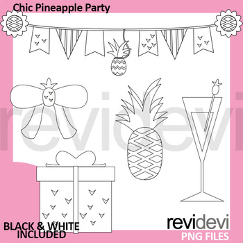 Pineapple Party Clipart