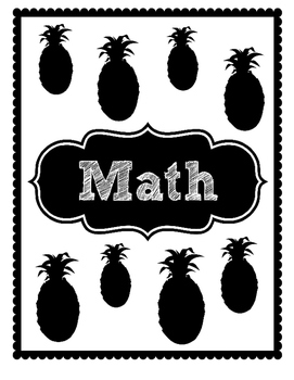 Pineapple Pattern Teacher Binder Labels