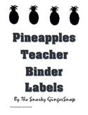 Pineapple Pattern Teacher Binder Labels