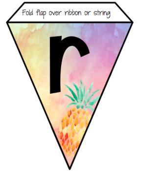 Pineapple Pennant Banner