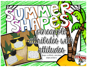 Pineapple Plane Shapes and Attributes Craftivity