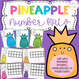 Pineapple Playdough Number Mats