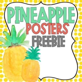 Pineapple Posters FREEBIE
