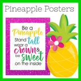 Pineapple Classroom Theme Posters