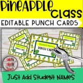 Pineapple Punch Cards Tropical Classroom Themed Decor  - Editable