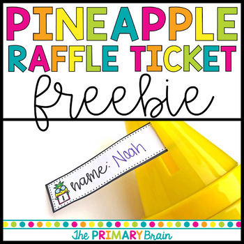 Pineapple Raffle Ticket Freebie
