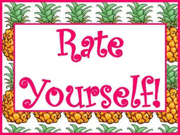 Pineapple Rate Yourself posters