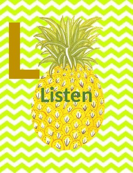 Pineapple SLANT and Non Verbal Hand Signals
