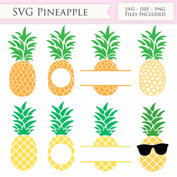 Download Pineapple SVG Files - Tropical Summer Pineapple monogram ...