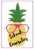 Pineapple School Counselor Door Sign