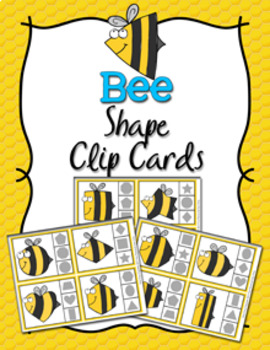 Bee Shapes Clip Cards