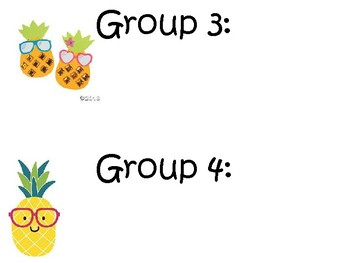 Pineapple Small Group chart