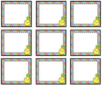 Pineapple Small Nametags Classroom Decor