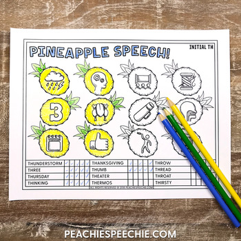 Pineapple Speech: Articulation Drill and Data Sheets