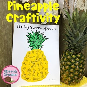 Pineapple Speech Craft (articulation language) Craftivity