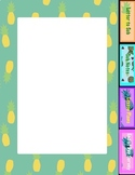 Pineapple Sub Plans Binder Pages - 5 pages
