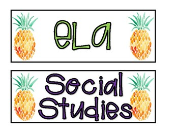 Pineapple Subject objective Labels