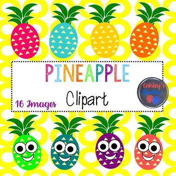 Pineapple summer. Clipart