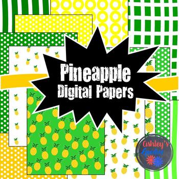 Pineapple Summer Digital Paper