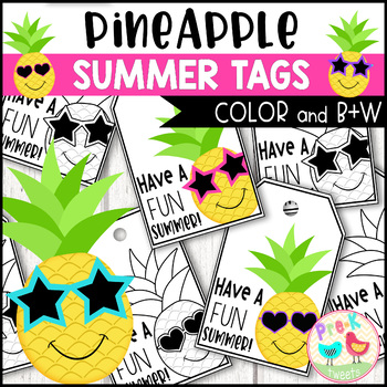 Pineapple Summer Gift Tags