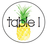 Pineapple Table Signs - Editable FREEBIE