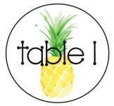 Pineapple Table Signs - Editable FREEBIE