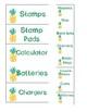 Pineapple Teacher Toolbox Label Cards
