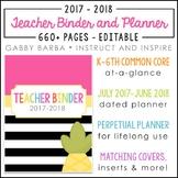 Pineapple Teacher Binder