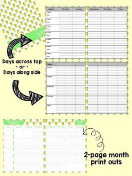 Pineapple Teacher Lesson Plan Book {Binder}