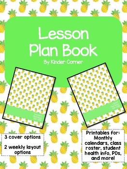 Teacher Planner 2017-2018 – Pineapple Theme
