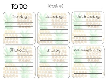 Pineapple Teacher Planner & To-Do Lists - FREE UPDATES!!!