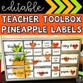 Pineapple Teacher Toolbox Labels
