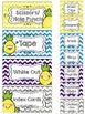 Pineapple Teacher Toolbox and Drawer Labels {Editable}