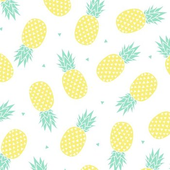 Pineapple Teal & Yellow Theme Background Image