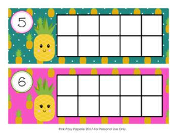 Pineapple Ten Frame Cards
